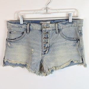NWT Free People High Waist Denim Cutoff Shorts